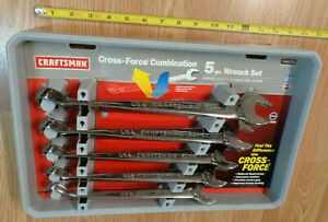 Usa Made Craftsman Cross Force Large Metric Wrench Set Polished Combination
