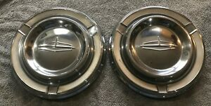 Two 1962 Oldsmobile Dynamic 88 Starfire Dog Dish Poverty Style Hubcaps
