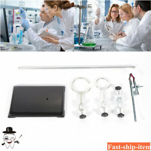 Lab Stand With A Base 1 iron Pillar 1 beakers 1 fixing Clip 2 iron Frame Ring us