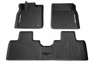 2021 Mustang Mach E Oem Genuine Ford Tray Style Molded Black Floor Mat Set 3 Pc