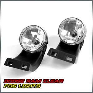 Pair For 94 02 Dodge Ram 1500 2500 350 Clear Front Bumper Fog Light Lamps Bulbs