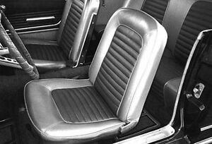 New 1966 Ford Mustang Seat Covers Upholstery Buckets Black Convertible Set