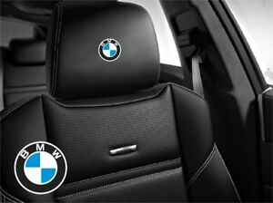 5x Bmw Sticker Logo For Leather Seats And Other Flat And Smooth Surfaces Or Etc