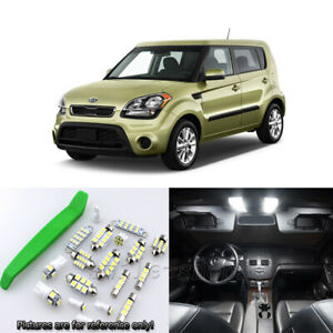 Super White 10pcs Interior Led Light Kit For 2010 2013 Kia Soul Free Tool
