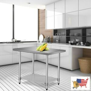 Prep Tables Work Table 24 x36 Stainless Steel Commercial Kitchen Food Prep Tabl