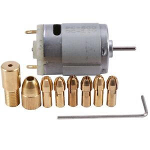 10x 1pc Dc 12v 500ma Mirco Motor With 6pcs 0 5 3 2mm Drill Collet Electric Pcb