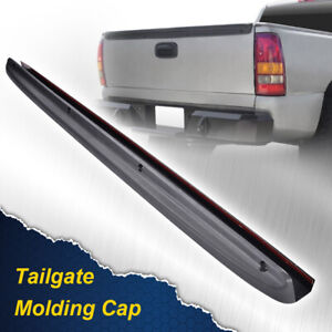 New Tailgate Spoiler Cap Molding Top Protector Fit For 99 06 Silverado Sierra
