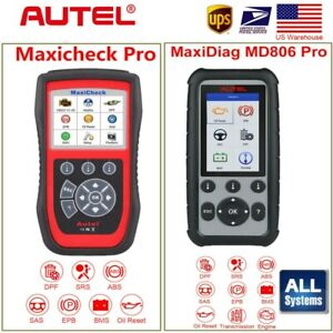 Autel Maxicheck Pro Md806 Pro Obdii Diagnostic Tool Scanner Epb Abs Srs Sas Dpf