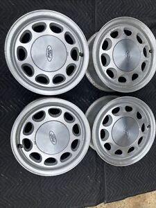 Ford Mustang 15 10 Hole 4 Lug Rims Wheels Fox Body 85 93 Set Taken Off In 89