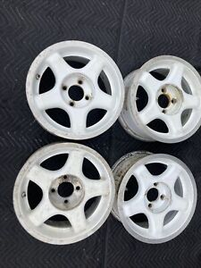Set Of 4 89 91 American Racing Saleen Dp 5 15x7 4 Lug Rims Uncracked