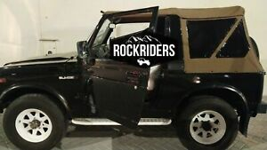 1986 1994 Suzuki Samurai Replacement Soft Top With Zip Out Tinted Windows Spice