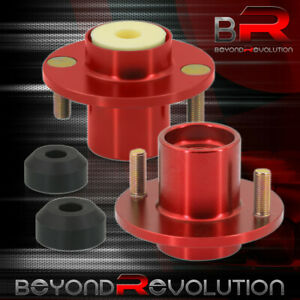 For 1988 2000 Civic Crx Del Sol Red Shocks Strut Tower Top Hat Bushing Bump Stop