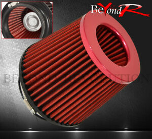 Universal 4 Replacement Induction Air Filter Intake Cold Short Ram Dry Red