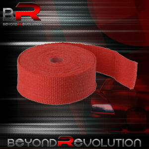 360 30ft Catalytic Converter Exhaust Header Red Heat Wrap Shield Cover Roll Jdm