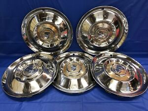 Vintage Set Of 5 1955 Mercury 15 Hubcaps Fomoco
