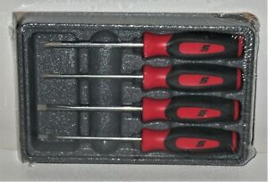 new Snap on Mini Screwdriver Set Sgdx40br red Soft Handles 4 Pcs new