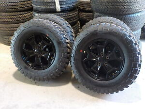 4 Jeep Gladiator Willys Factory Black 17 Wheels Bfg Tires 42f Jk Jl Wrangler