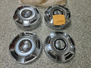 Ford F250 E250 F350 E350 Nos New Dog Dish Hubcaps Van Truck Set Oem Center Caps