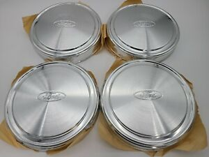 Ford F150 E150 Nos New Dog Dish Hubcaps Aluminum Pickup Truck Set 4 Hub