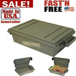 Military Ammo Box Plastic Storage Case 65 Lbs Hunting Ammunition Crate Utility $25.99
