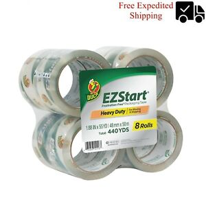 Duck Brand Ez Start Packing Tape 1 88 In X 54 6 Yd Clear 8 count