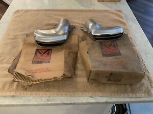 Nos Pair Of 1955 1956 Mercury Exhaust Tips Outlets