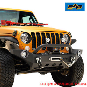 Eag Front Bumper Heavy Duty With Fog Light Hole Fit For 18 21 Jeep Jl Wrangler