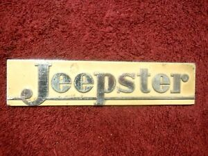 1948 1949 Willy S Jeepster Original Hood Badge