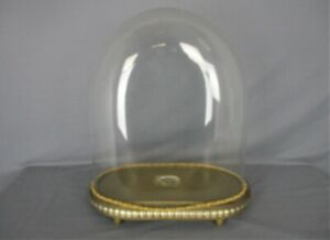 Antique Victorian Oval Hand Blown Glass Globe Dome Doll Clock 17 51 H 15 15
