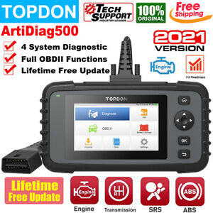 Topdon Artidiag500 Obd2 Auto Scanner Car Abs Srs Engine Transmission Diagnostic