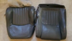 Factory Covers For 98 2002 Trans Am Front Seat And Seat Back Dark Pewter Grey