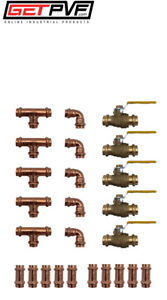 Lot Of 25 Pcs Propress 1 Copper Fittings Valves Save New