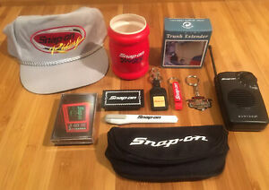 Father s Day Gifts Snap on Tools Hat coozie key Chain Utility Knife radio cards
