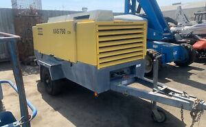 2010 Atlas Copco Xas 750 Diesel Air Compressor Trailer