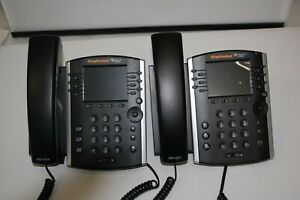 Lot Of 2 Polycom Wx 411 Line Desktop Phone