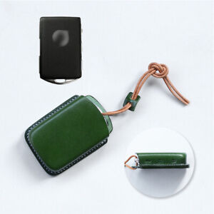 Handmade Leather Car Remote Key Case Cover Key Shell Fob For Volvo Xc70 Xc90 S80