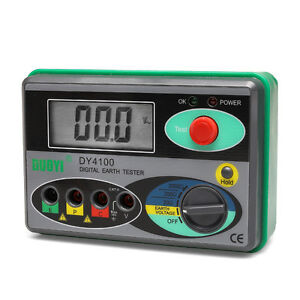 Dy4100 Digital Earth Ground Resistance Meter Tester 0 20 200 2000
