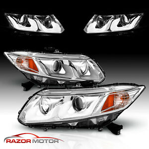 u Style Led for 2012 2013 2014 2015 Honda Civic 2 4dr Projector Headlights Pair