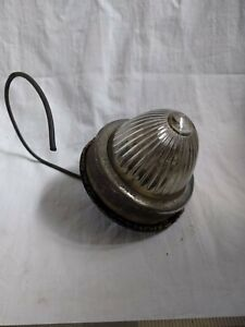 Vintage Back Up Light Lamp Reverse Glass Lens Stamped Yankee 975 Chrome Housing
