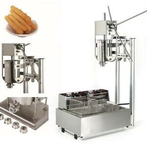 Stainless Steel Commercial Manual Spanish Churro Machine With 12l Fryer Us Stock