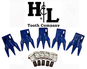 233tr3 Bucket Teeth By H l Fits 230 Series Adapters Hammerless Conversion 233