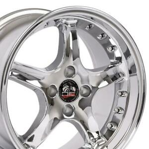 17x8 Rims Fit Mustang 4 Lug Cobra R Dd Style Wheels Set