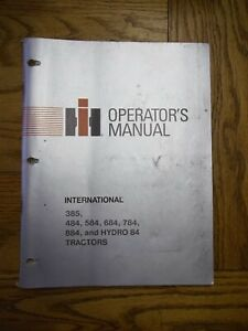 International Harvester 385 484 584 684 784 884 And Hydro 84 Tractor Owners