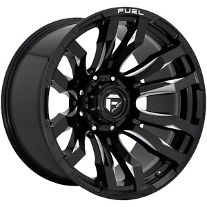 6x135 4 Wheels 17 Inch Rims Fuel 1pc 17x9 1mm Black Milled