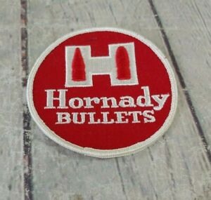 Vintage HORNADY BULLETS Sew On Patch Embroidered Hunting 3.5quot; $17.99