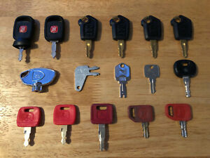 16 keys Heavy Equipment Construction Equipment Ignici n Key Set used