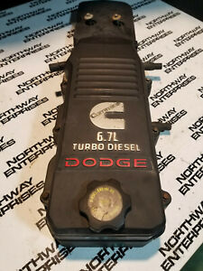 Dodge Ram 6 7l Cummins Used Upper And Lower Valve Cover Assembly 4944083 Re1291
