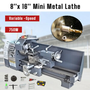 Variable speed 750w 8 x 16 Woodworking 50 2500rpm Mini Metal Lathe Bench