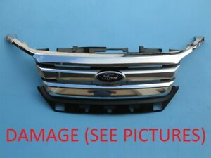 2010 2011 2012 Ford Fusion Front Bumper Upper Top Grille Used Chrome 10 11 12