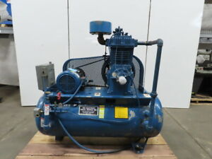 Reciprocating 2 Stage Air Compressor 120 Gal 10hp 230 460v